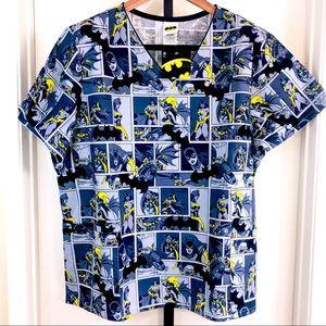 Batgirl Batman Womens 2X  Scrub Top 🦇